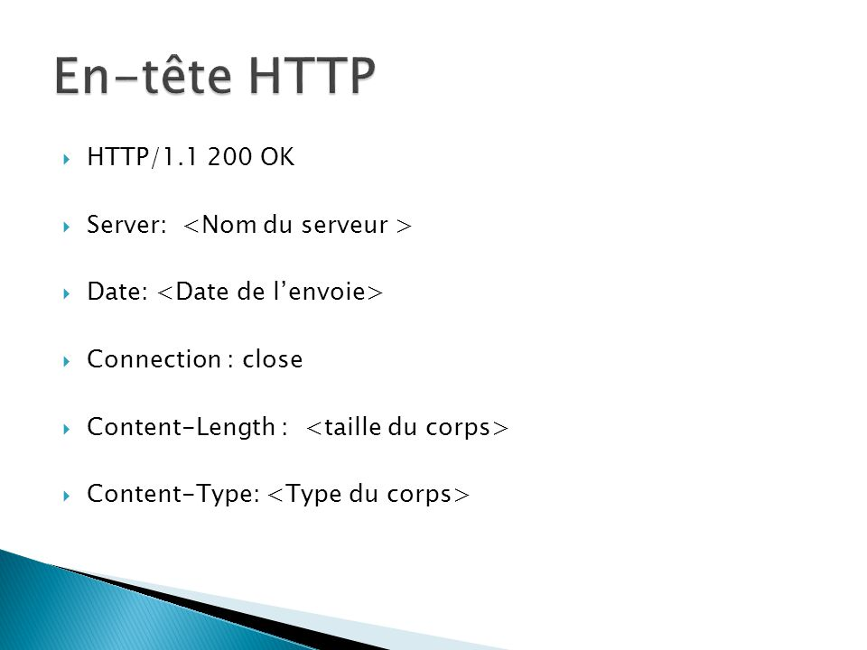 HTTP/1.1 200 OK Server: Date: Connection : close Content-Length : Content-Type: