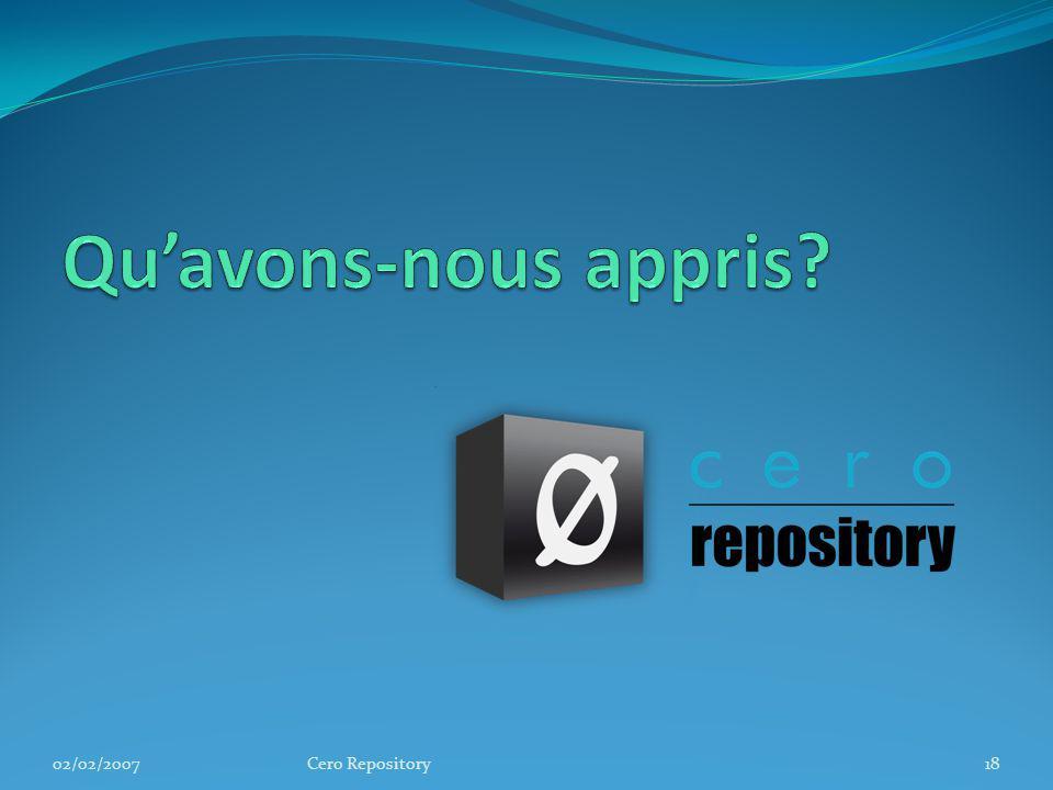 02/02/2007Cero Repository18