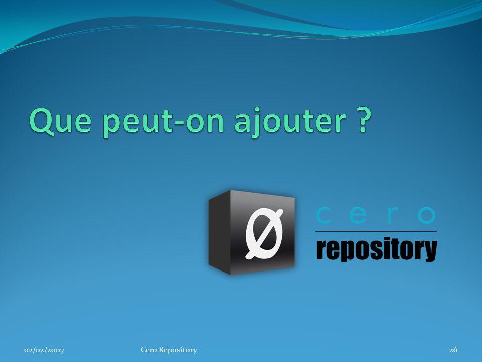 02/02/2007Cero Repository26
