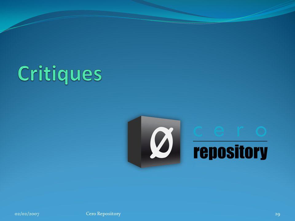 02/02/2007Cero Repository29