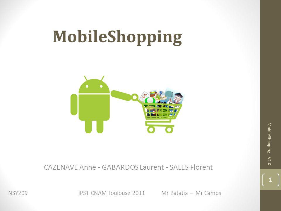 3.1) L architecture MobileShopping V1.0 12 3. La conception détaillée