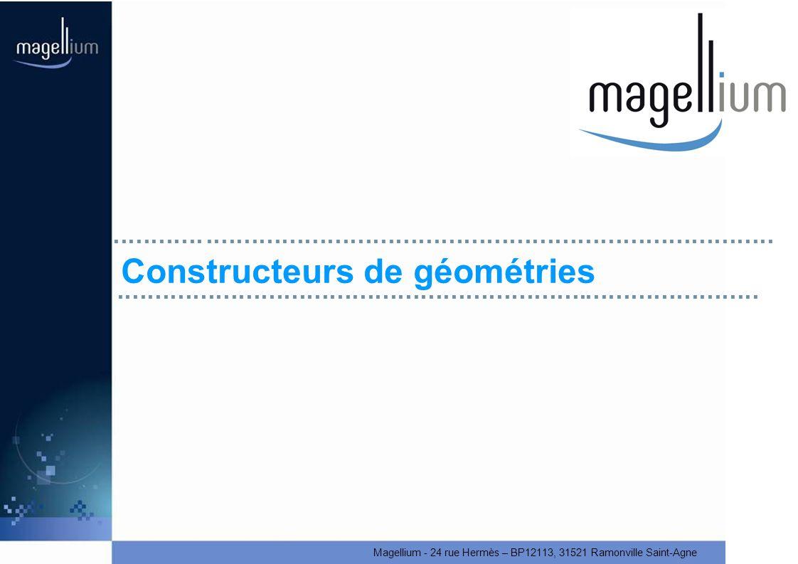 Magellium - 24 rue Hermès – BP12113, 31521 Ramonville Saint-Agne Constructeurs de géométries