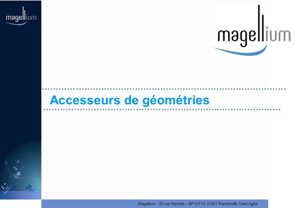 Magellium - 24 rue Hermès – BP12113, 31521 Ramonville Saint-Agne Accesseurs de géométries