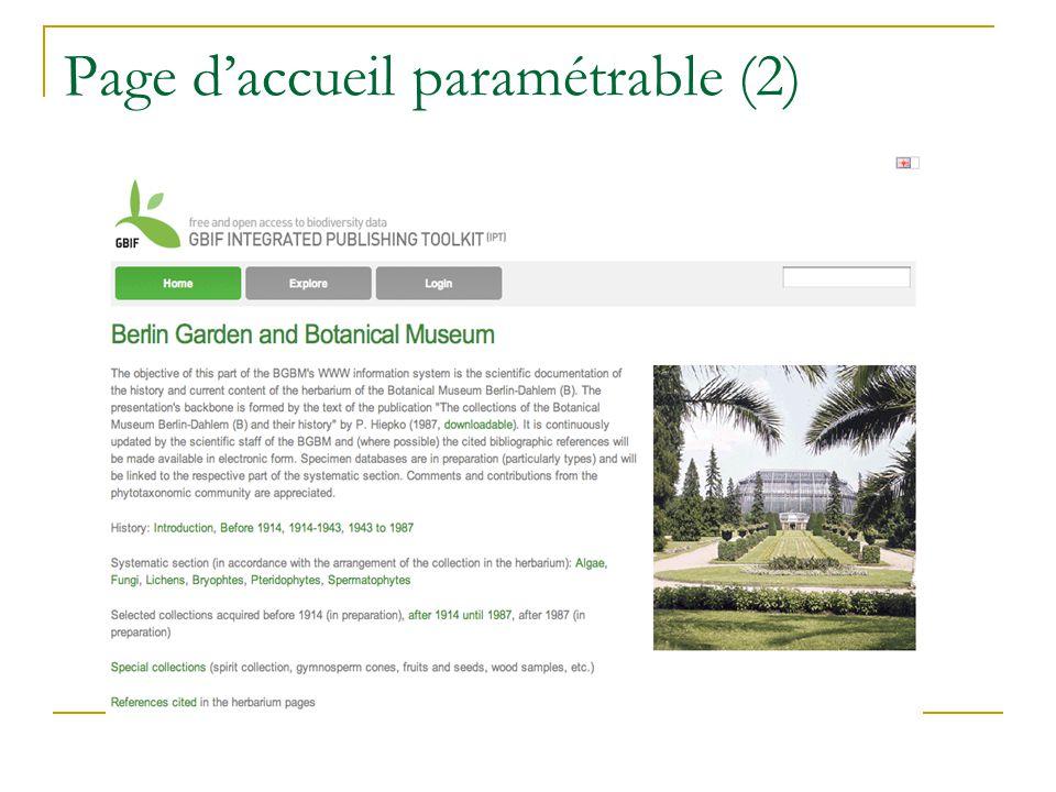 Page daccueil paramétrable (2)
