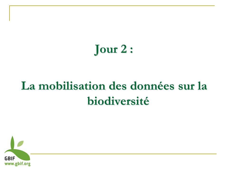 Jour 2 : La mobilisation des données sur la biodiversité
