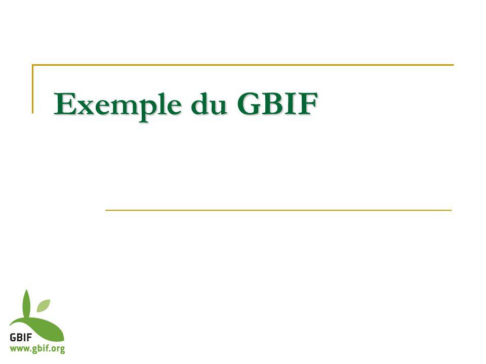 Exemple du GBIF
