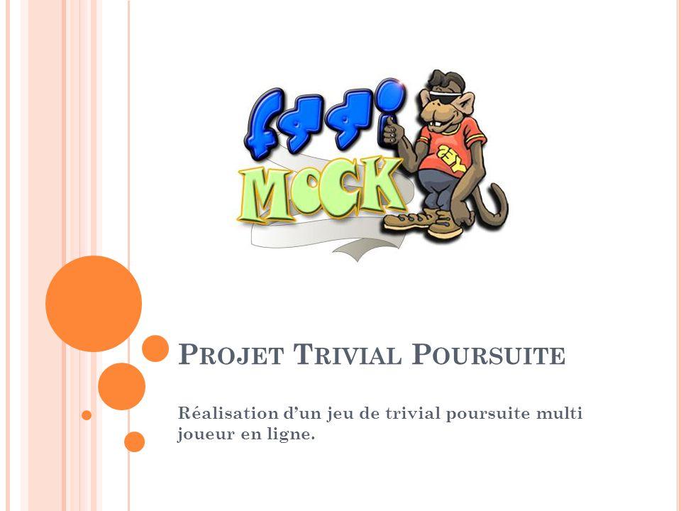 P ROJET T RIVIAL P OURSUITE Réalisation dun jeu de trivial poursuite multi joueur en ligne.