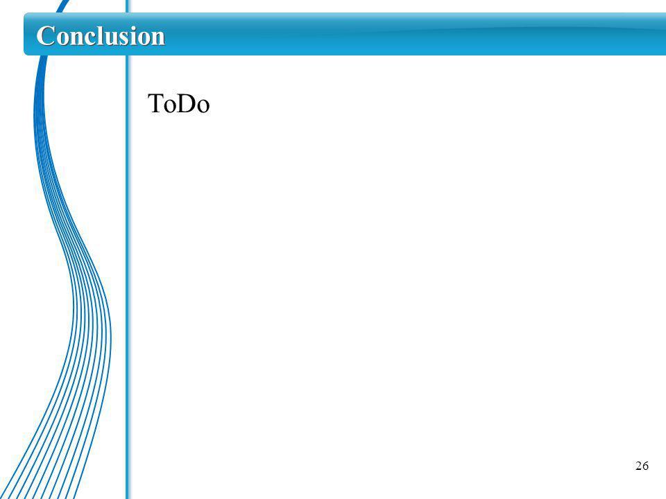 26 Conclusion ToDo