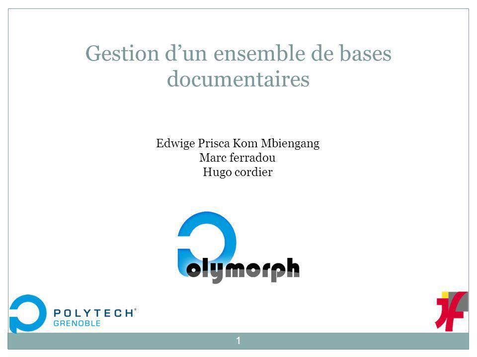 Edwige Prisca Kom Mbiengang Marc ferradou Hugo cordier Gestion dun ensemble de bases documentaires 1