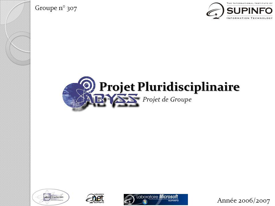 Projet Pluridisciplinaire Projet de Groupe Groupe n° 307 Année 2006/2007