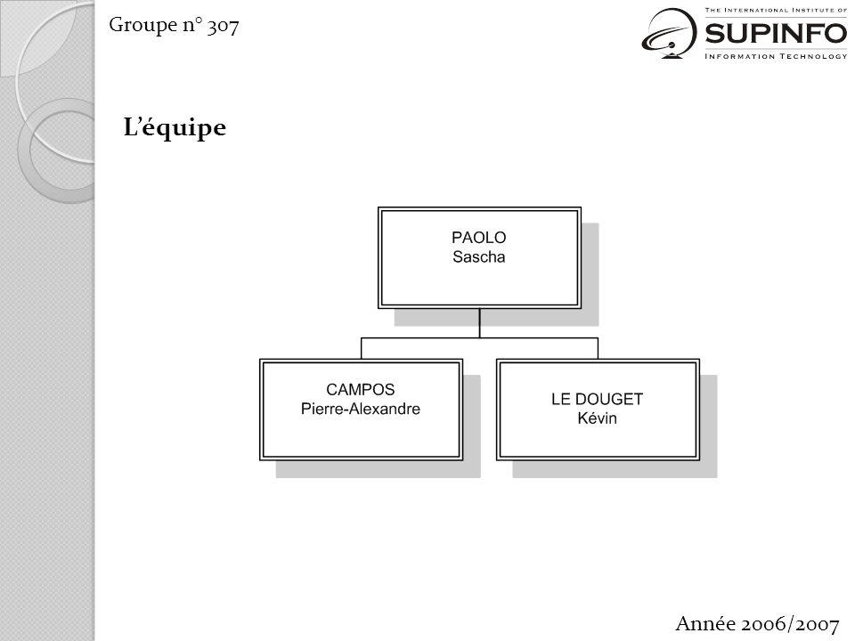 Groupe n° 307 Année 2006/2007 Léquipe