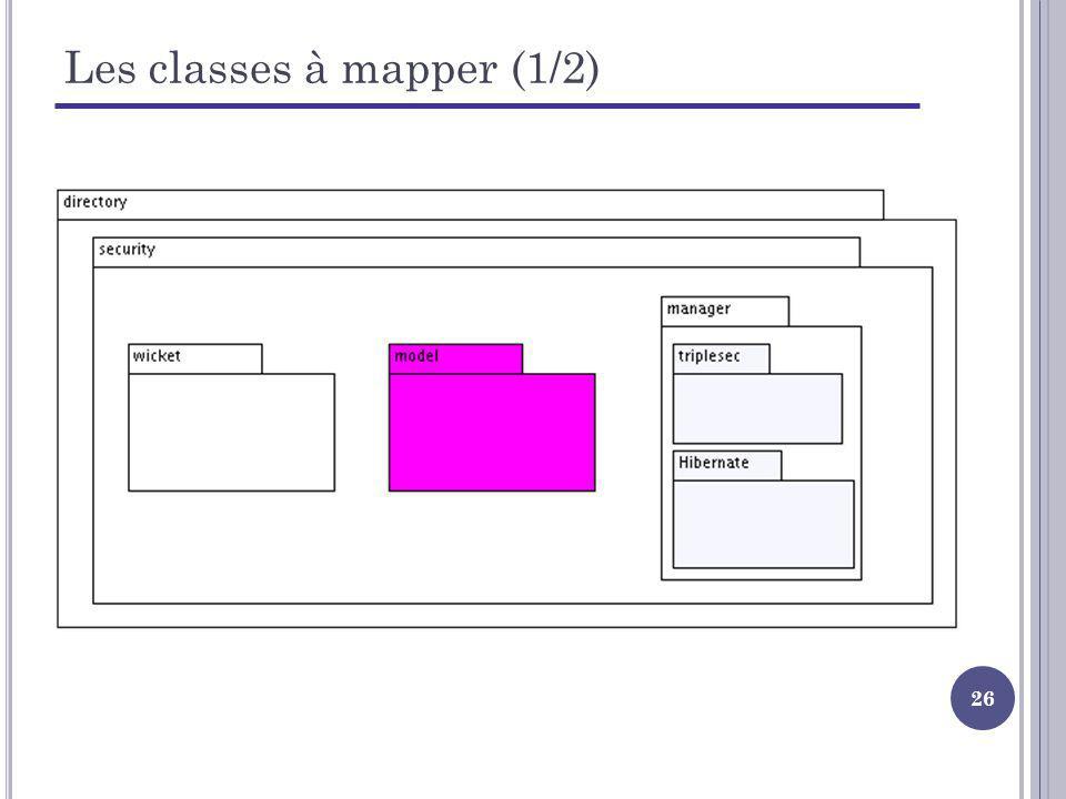 26 Les classes à mapper (1/2)