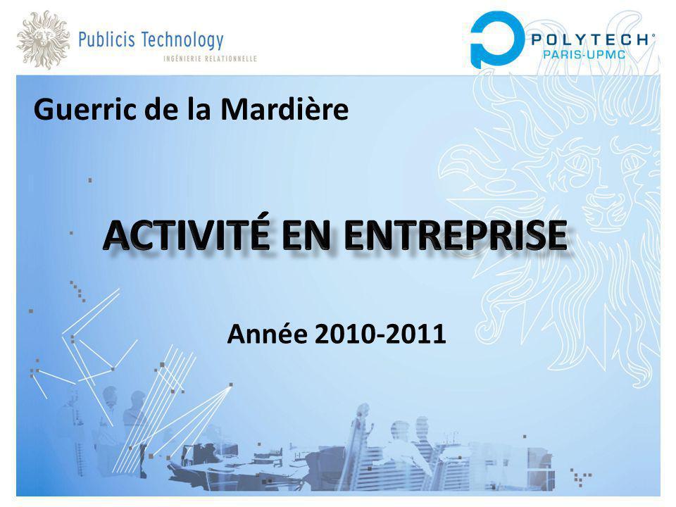 Année 2010-2011 Guerric de la Mardière