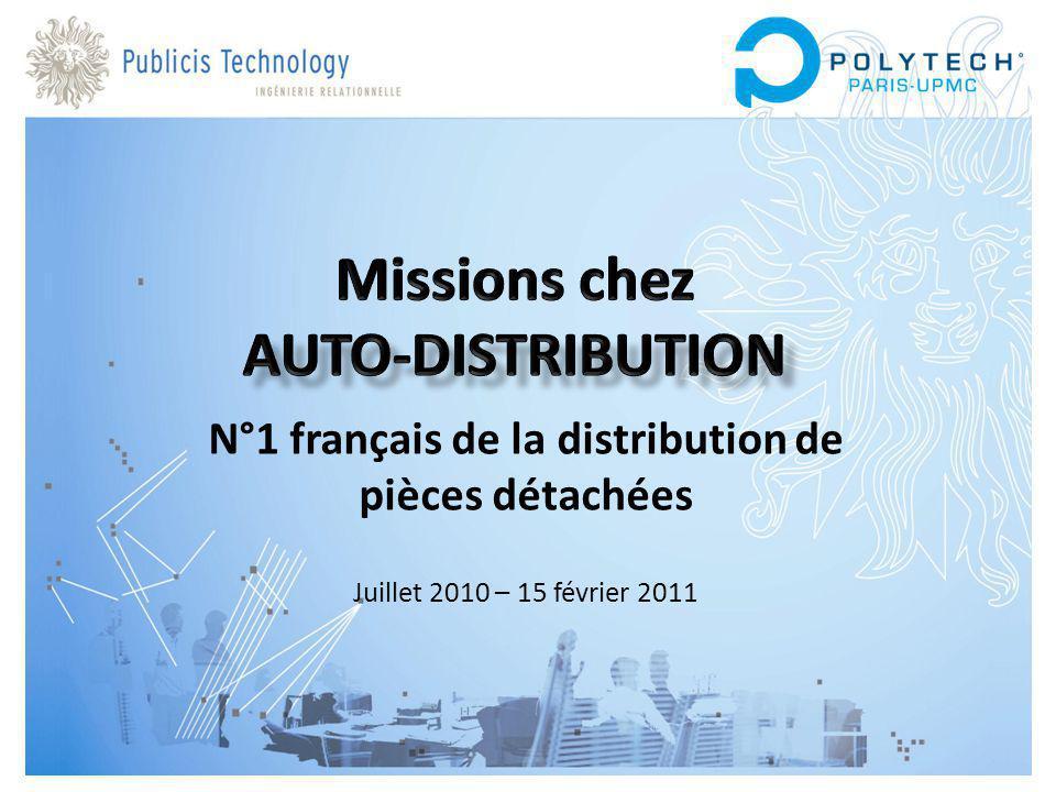 N°1 français de la distribution de pièces détachées Juillet 2010 – 15 février 2011