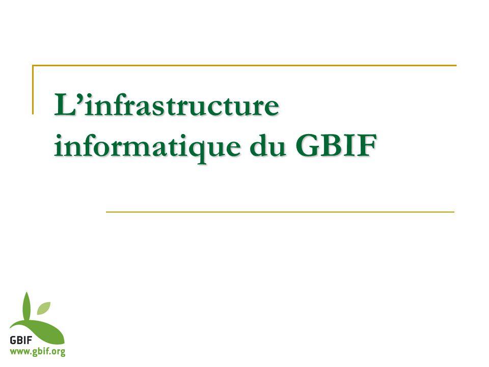 Linfrastructure informatique du GBIF