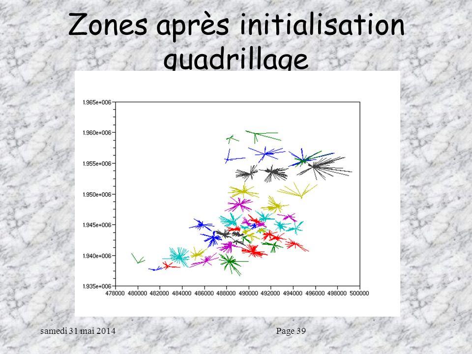 samedi 31 mai 2014Page 39 Zones après initialisation quadrillage