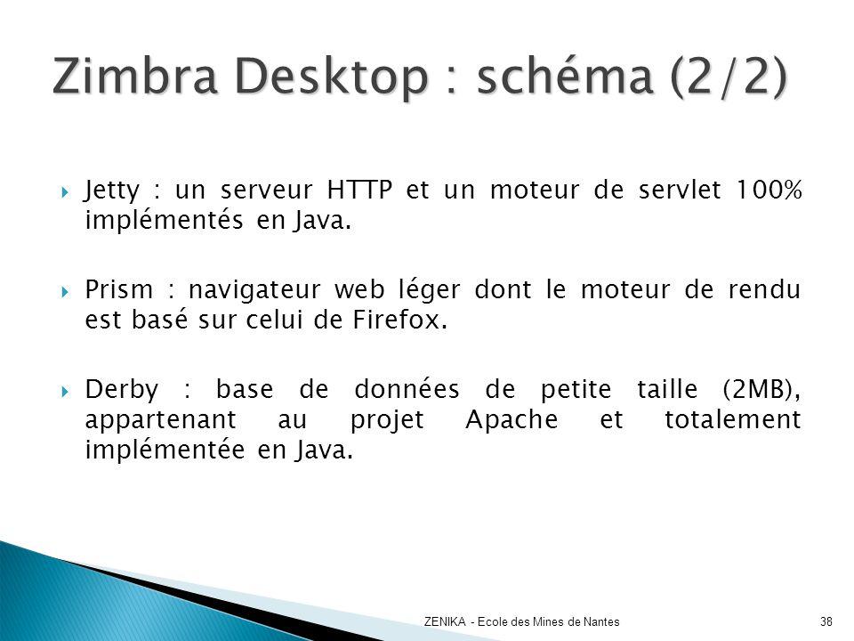 Jetty : un serveur HTTP et un moteur de servlet 100% implémentés en Java. Prism : navigateur web léger dont le moteur de rendu est basé sur celui de F