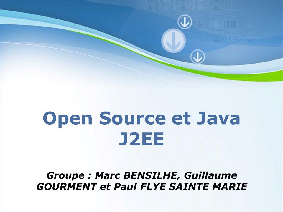Powerpoint Templates Page 1 Powerpoint Templates Open Source et Java J2EE Groupe : Marc BENSILHE, Guillaume GOURMENT et Paul FLYE SAINTE MARIE