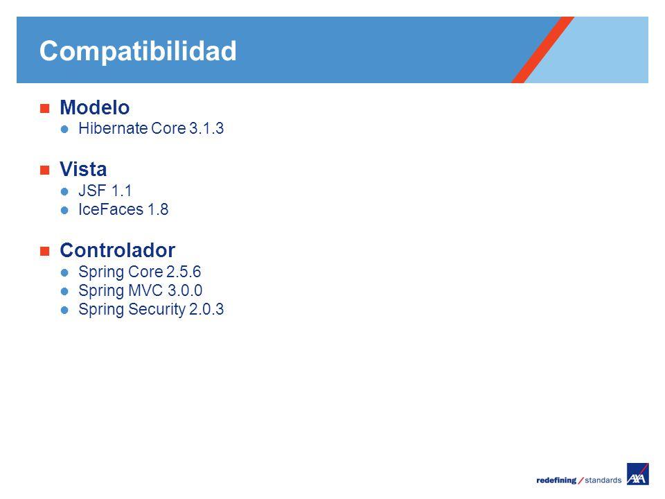 Pour personnaliser le pied de page « Lieu - date »: Affichage / En-tête et pied de page Personnaliser la zone date et pieds de page, Cliquer sur appliquer partout Encombrement maximum du logotype depuis le bord inférieur droit de la page (logo placé à 2/3X du bord; X = logotype) Compatibilidad Modelo Hibernate Core 3.1.3 Vista JSF 1.1 IceFaces 1.8 Controlador Spring Core 2.5.6 Spring MVC 3.0.0 Spring Security 2.0.3