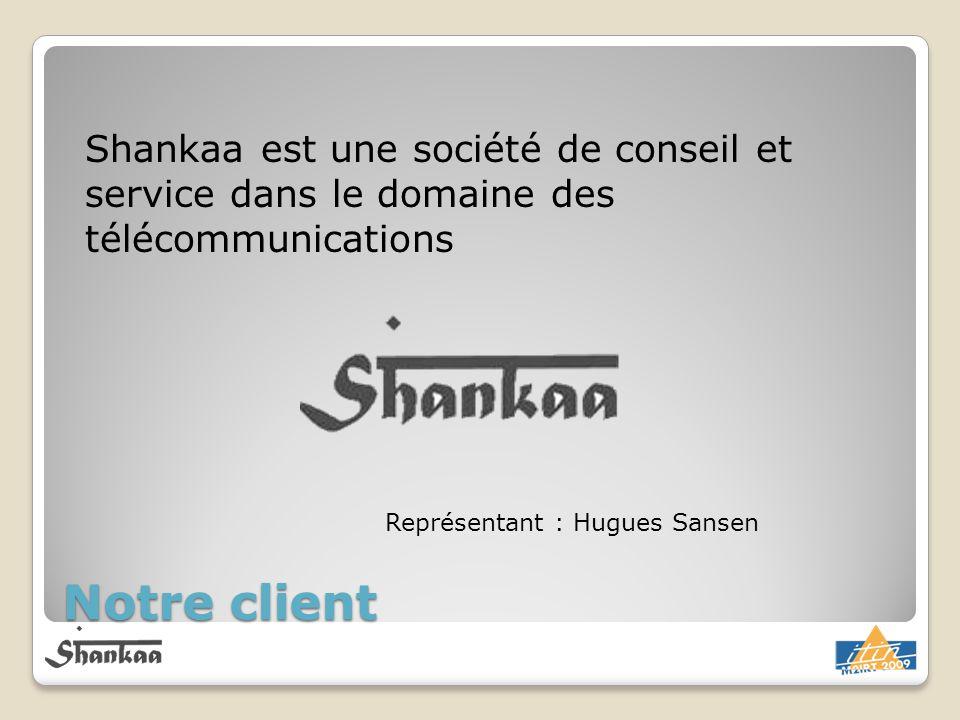 Notre client Shankaa est une société de conseil et service dans le domaine des télécommunications Représentant : Hugues Sansen