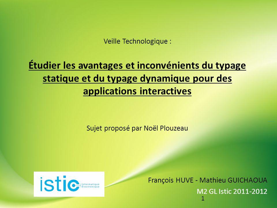 2 PLAN Introduction Partie 1 : Cas des langages au typage dit statique Partie 2 : Cas des langages au typage dit dynamique Conclusion