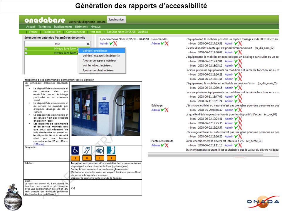 Génération des rapports daccessibilité