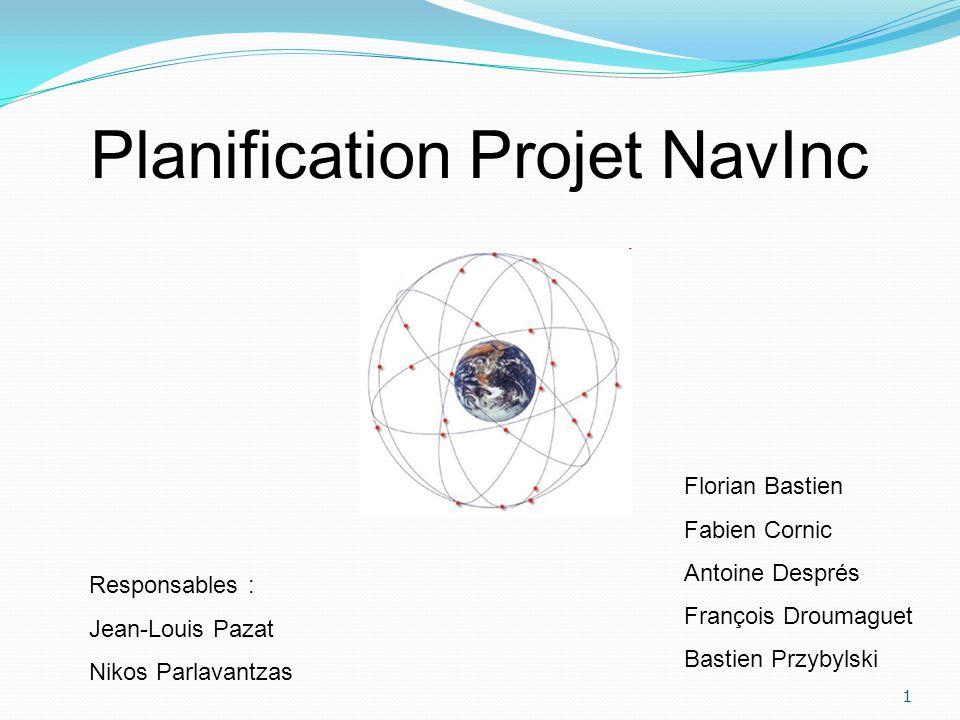 Planification Projet NavInc 1 Florian Bastien Fabien Cornic Antoine Després François Droumaguet Bastien Przybylski Responsables : Jean-Louis Pazat Nik