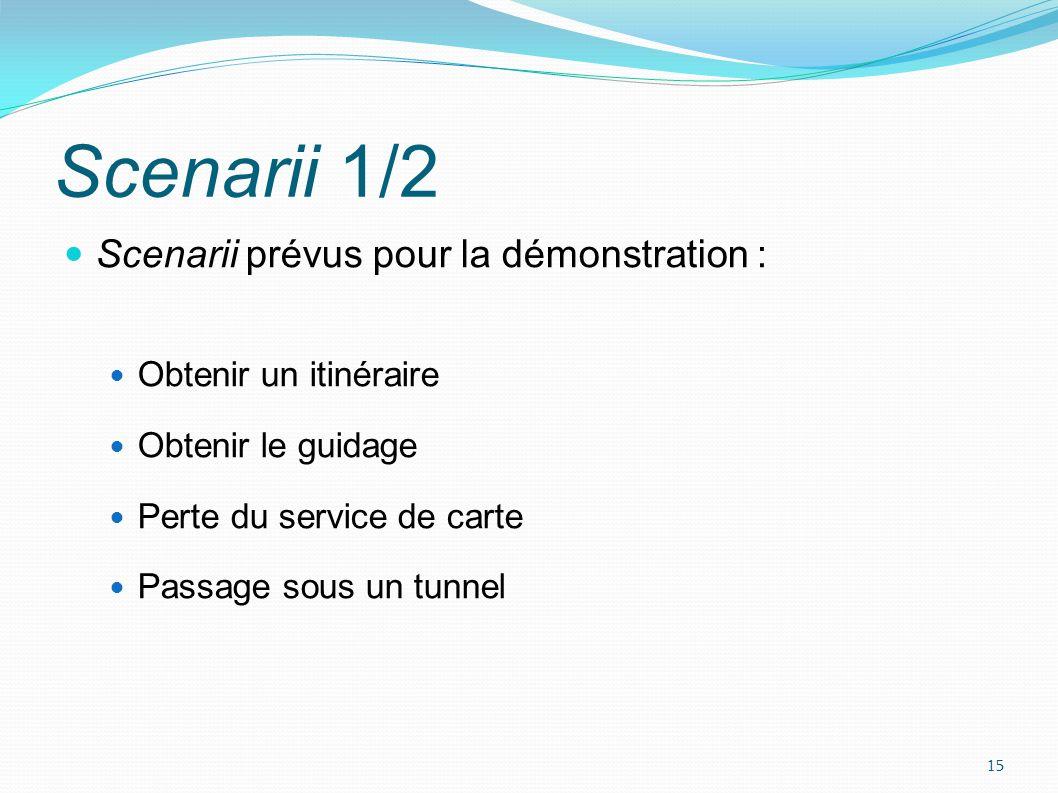 Scenarii 2/2 Permettent de démontrer : La composition de services Ladaptation réactive (perte de carte) Ladaptation proactive (passage sous un tunnel) 16