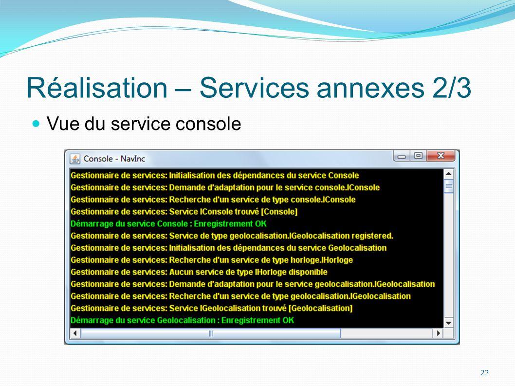 Réalisation – Services annexes 3/3 Vue du service dadministration 23