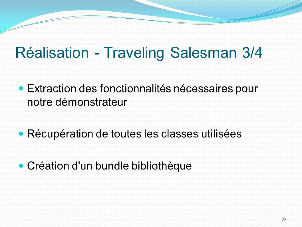 Réalisation - Traveling Salesman 4/4 Schéma des dépendances avant modification de larchitecture Schéma des dépendances après modification de larchitecture 29
