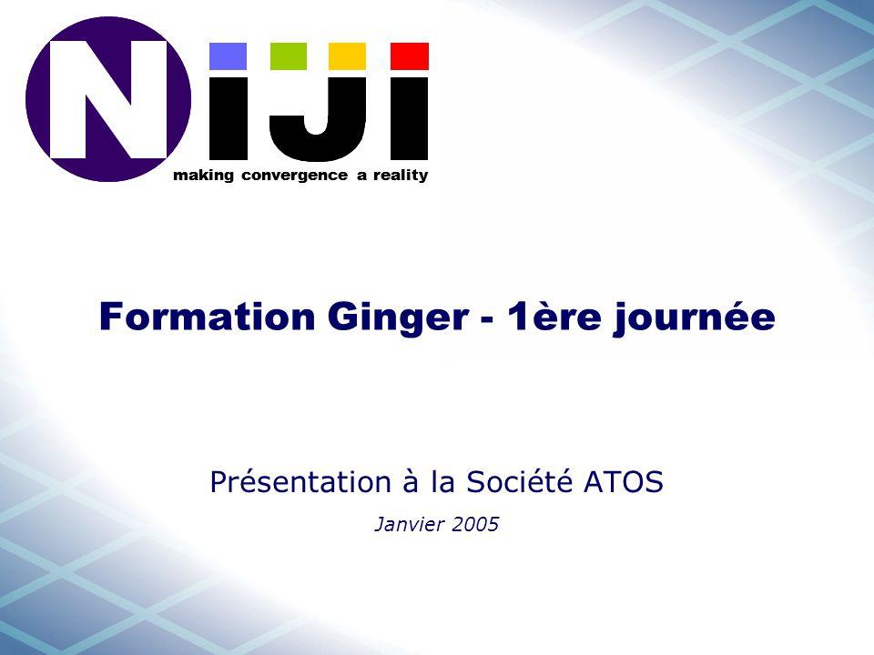 making convergence a reality Formation Ginger - 1ère journée Présentation à la Société ATOS Janvier 2005