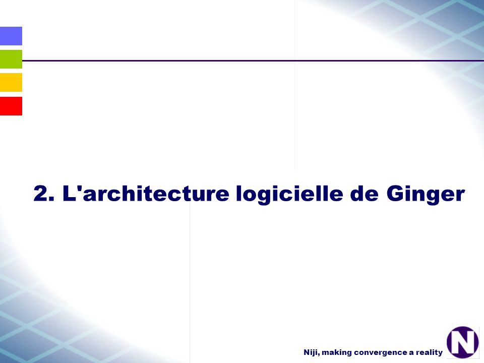 Niji, making convergence a reality 2. L architecture logicielle de Ginger