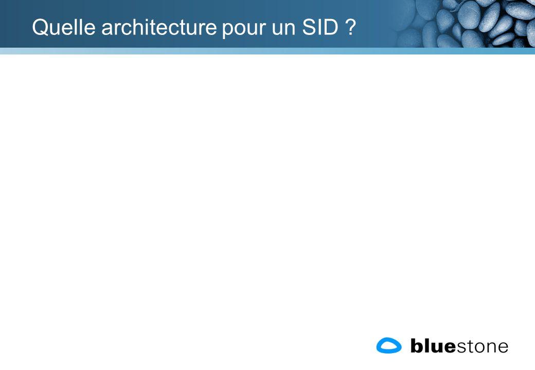 Quelle architecture pour un SID ?