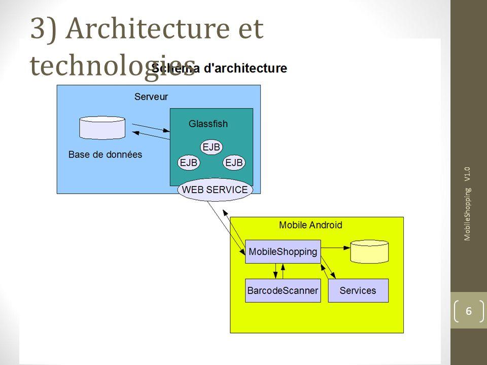 3) Architecture et technologies MobileShopping V1.0 6