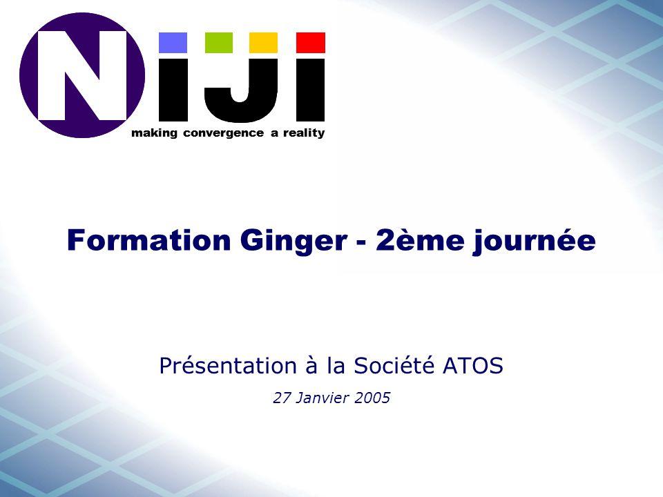making convergence a reality Formation Ginger - 2ème journée Présentation à la Société ATOS 27 Janvier 2005