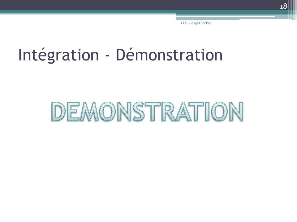 Intégration - Démonstration CIAI - Projet Socket 18