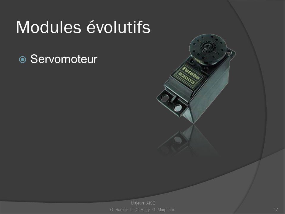 Modules évolutifs Servomoteur 17G. Barbier L. De Barry G. Marpeaux Majeure AISE