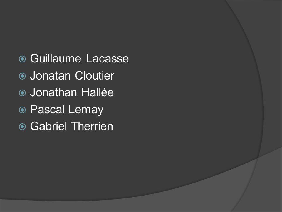 Guillaume Lacasse Jonatan Cloutier Jonathan Hallée Pascal Lemay Gabriel Therrien
