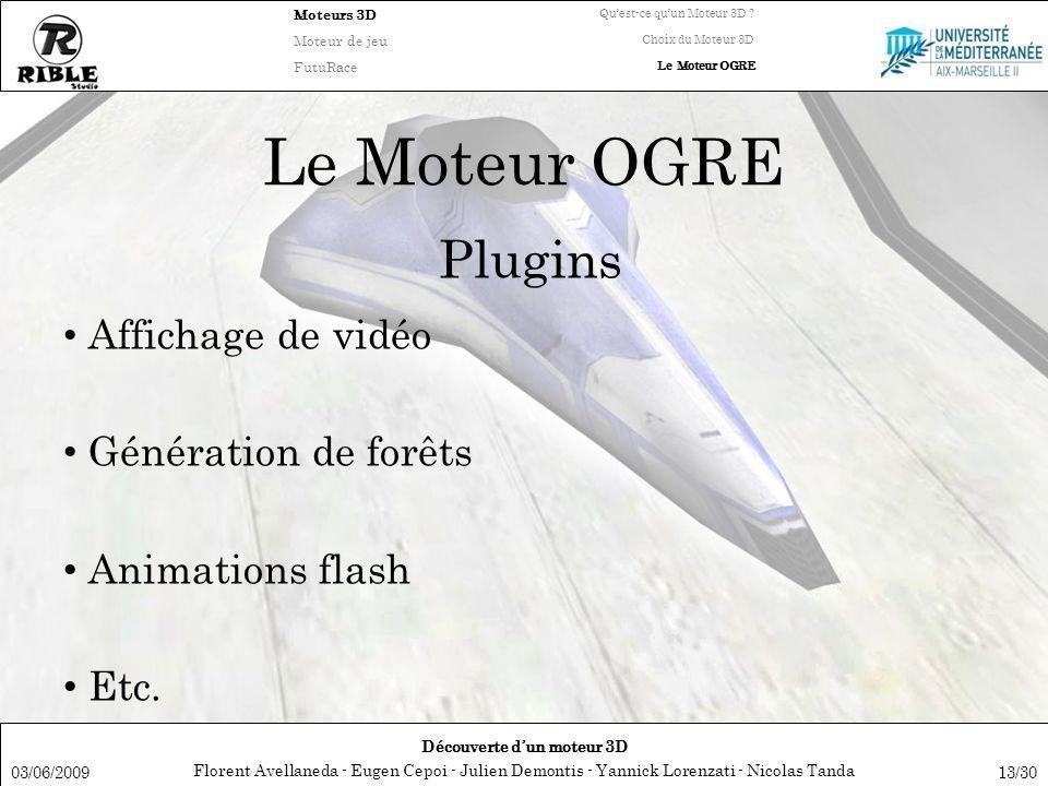 Florent Avellaneda - Eugen Cepoi - Julien Demontis - Yannick Lorenzati - Nicolas Tanda Découverte dun moteur 3D Moteurs 3D Moteur de jeu FutuRace Quest-ce quun Moteur 3D .