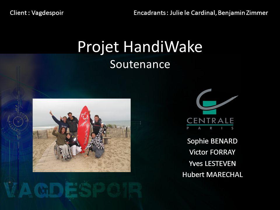Projet HandiWake Soutenance Sophie BENARD Victor FORRAY Yves LESTEVEN Hubert MARECHAL Client : VagdespoirEncadrants : Julie le Cardinal, Benjamin Zimmer