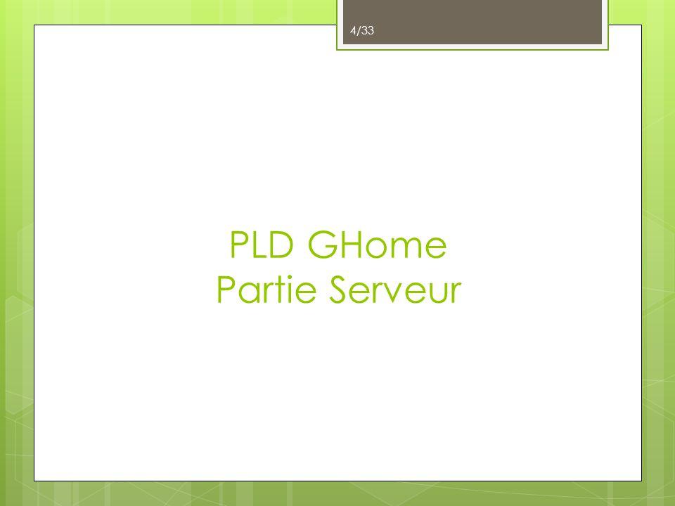 PLD GHome Partie Serveur 4/33