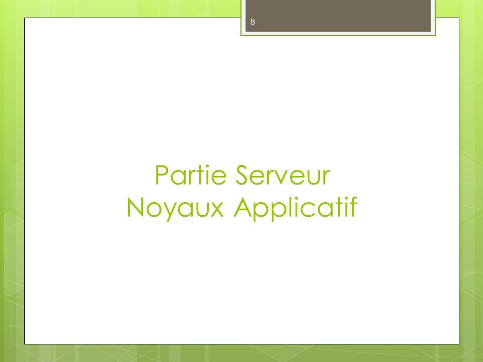 Partie Serveur Noyaux Applicatif 8
