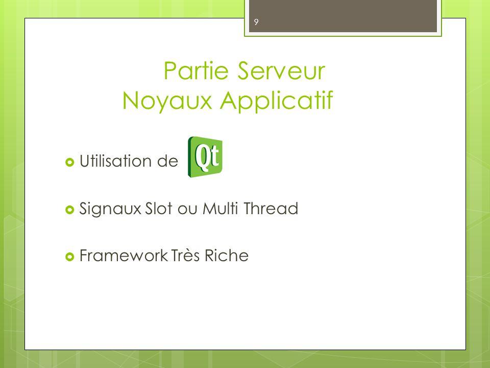 9 Utilisation de Signaux Slot ou Multi Thread Framework Très Riche