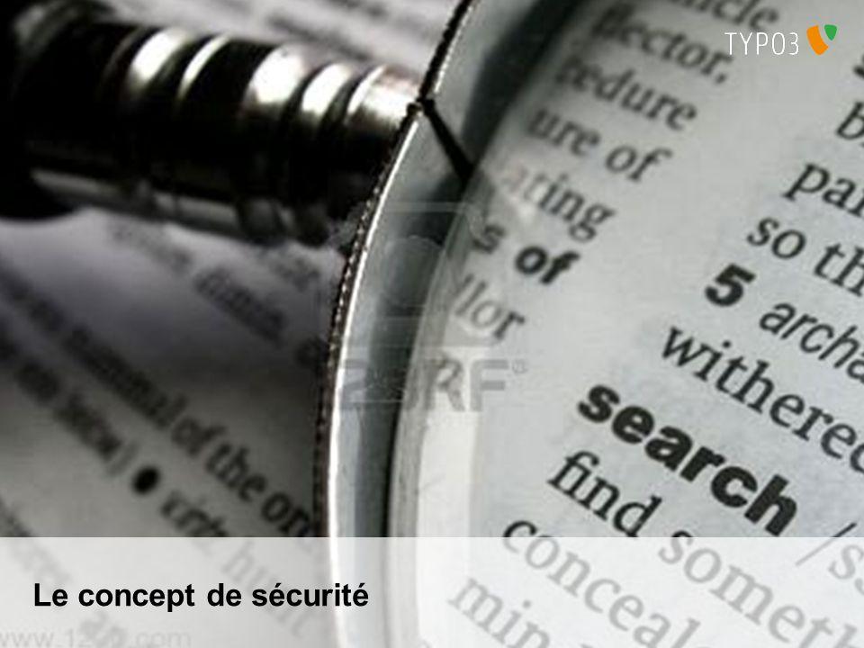 T3UNI 2011 TYPO3 et la Sécurité de linformation 29.06.2011 Gestion des comptes Un compte utilisateur doit être attaché à une unique personne Laccès doit être restreint par des mots de passe non triviaux Interdiction dutiliser le login ou un mot de passe par défaut .