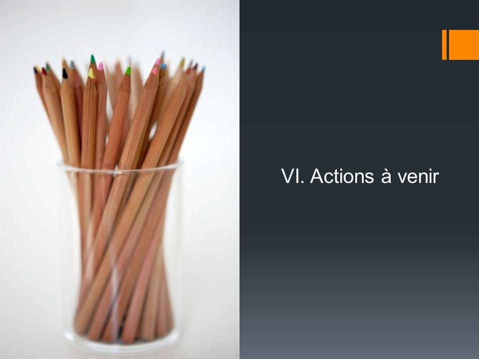 VI. Actions à venir