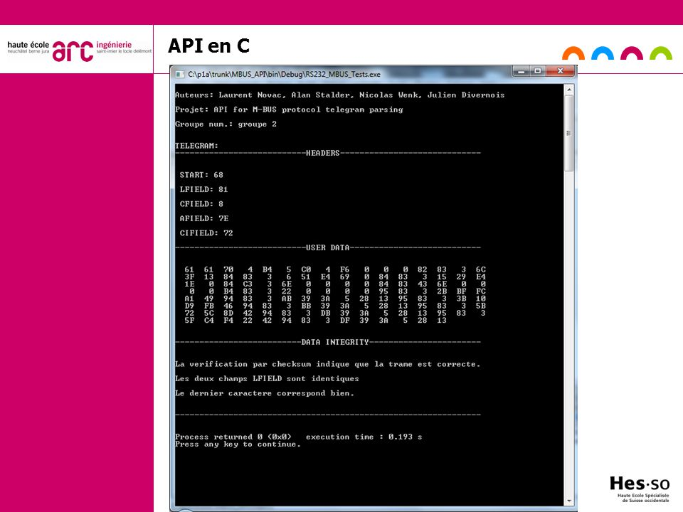 API en C