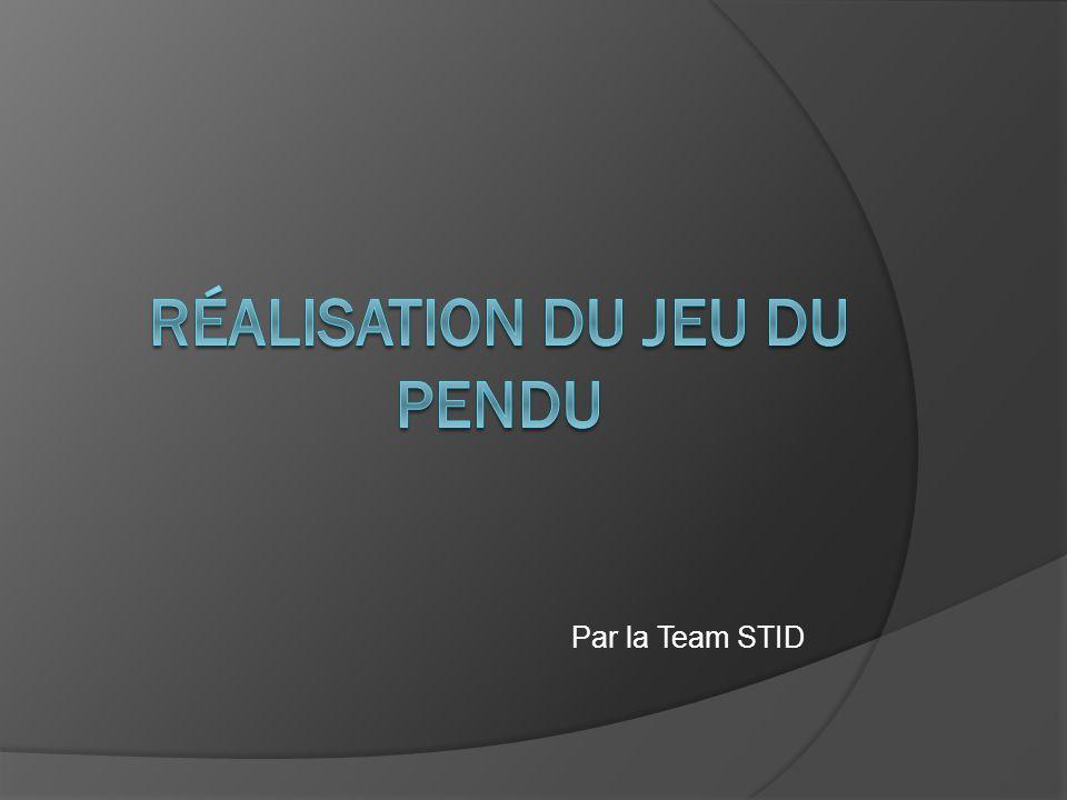 Par la Team STID
