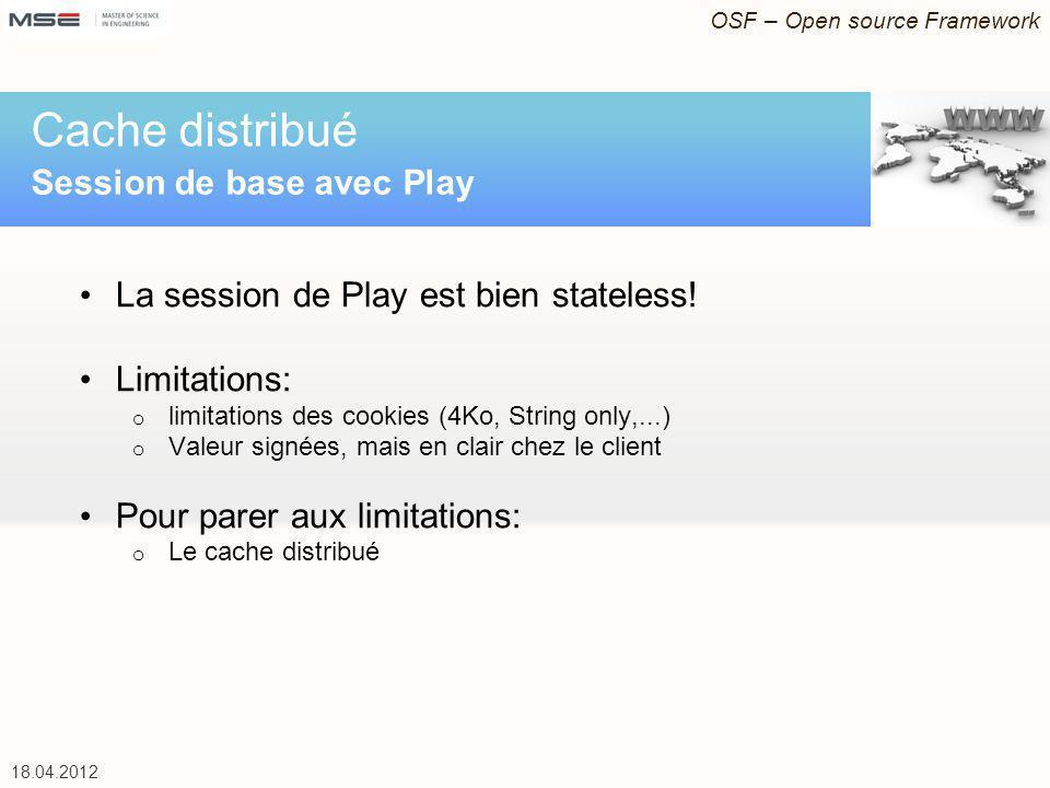 OSF – Open source Framework 18.04.2012 Accès EJB depuis Play REST