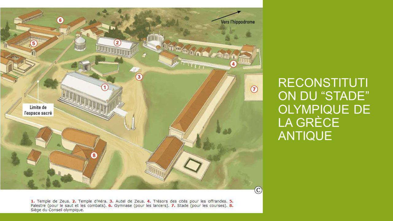 RECONSTITUTI ON DU STADE OLYMPIQUE DE LA GRÈCE ANTIQUE
