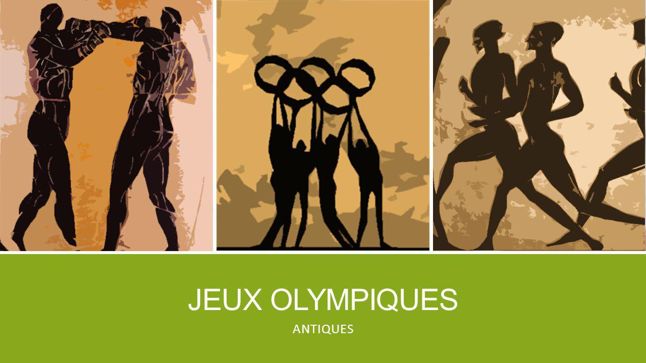 JEUX OLYMPIQUES ANTIQUES